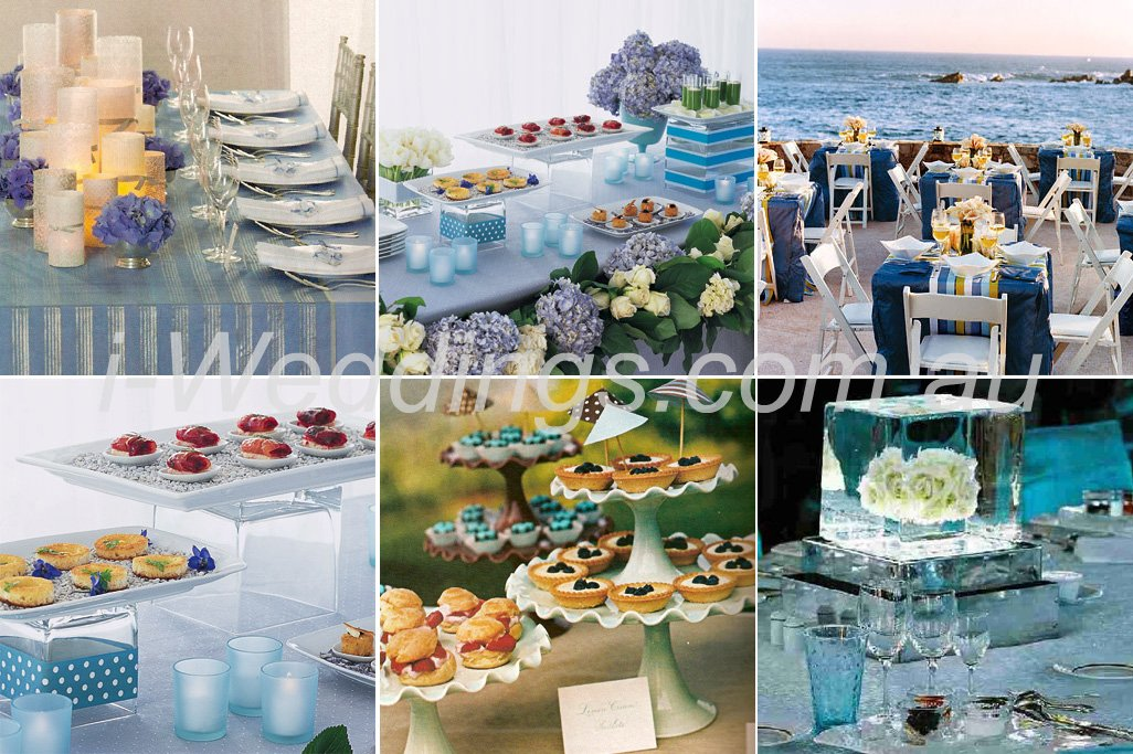 ilovethese table setting ideas - blue