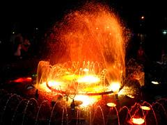 Like Fire (Alfonsina Blyde ») Tags: plaza water pool fire luces noche agua fuente colores fuego naranja orenge 365venezuela
