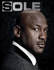 Michael Jordan on the cover of sole magazine