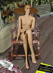 granny feels hot (manyone1) Tags: mannequin chair 135 rocking granny dummy duc airconditioning