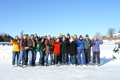 "Penny and her volunteers celebrate Winterlude with a skate on the canal in February 2008 • <a style=""font-size:0.8em;"" href=""http://www.flickr.com/photos/21584185@N07/2283668185/"" target=""_blank"">View on Flickr</a>"
