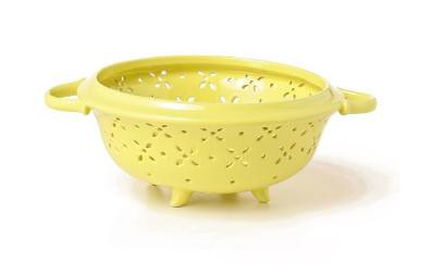 Anthropologie.com > Meadow Colander :  floral anthropologie colander yellow