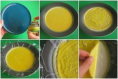 Microwaved thin egg sheets (usuyaki tamago)