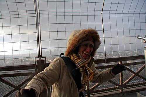 Lluvia en la Torre Eiffel
