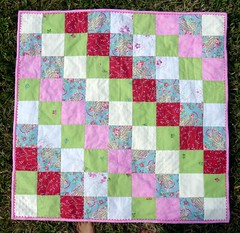 girly patchwork quilt