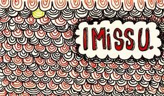 missu (Reavel) Tags: red cloud black green texture moleskine font miss imissu