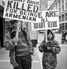 We Are All Hrant Dink (alapan.com) Tags: sanfrancisco film turkey father protest streetphotography son photoblog analogue yashicamat124g filmphotography armeniangenocide hrantdink filmisnotdead agoncillo longlivefilm wwwalapancom johnagoncillo believeinfilm