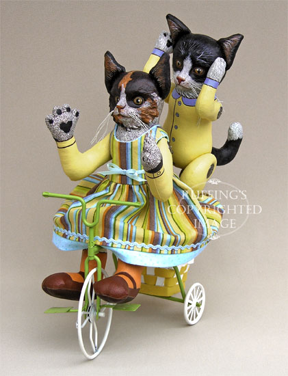 Fiona and Ziggy Original Kitten Folk Art Cat Dolls by Elizabeth Ruffing