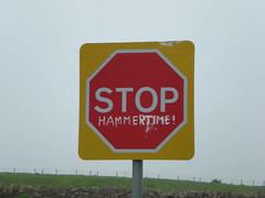 Stop - Hammertime! (Vickers Creative) Tags: stop graffitti roadsign mchammer hammertime