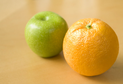 Apples & Oranges - They Don't Compare by TheBusyBrain, on Flickr