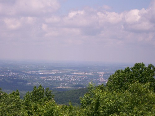 The view from the scenic overlook, gazing down onto Uniontown