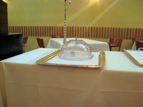 Joia, Milan, Serving Dome with Incense for Dessert