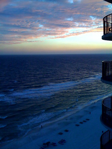 The sunset on our first day in PCB