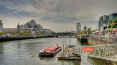 View from Sean O'Casey Bridge, Dublin (Ossie13 aka Steve) Tags: ireland dublin eire hdr riverliffey seanocaseybridge photomatrix 1raw nikond80 hdraward nikon1685