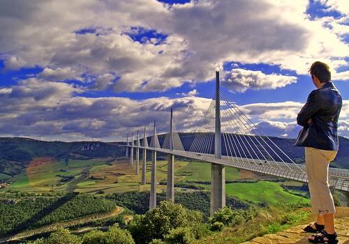 Brücke von Millau, Languedoc-Roussilon (france)