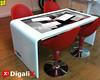 Mesa realizada íntegramente en metacrilato de una sóla pieza para Digalix_Waam S.L. (METACRILATO y METALIZACIÓN) Tags: decoración mesa escalera peldaños blanco metacrilato transparente pmma incoloro