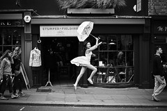 Can't stop,must fly (full frame version) (photocillin) Tags: london girl fashion umbrella fly jump action hill 64 give portobello ycc leap notting 46 levitate goforit bev1 sprix19