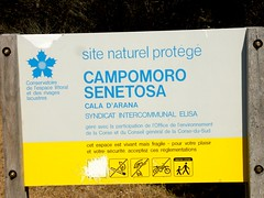 Panneau Site Naturel Protégé à Fautea