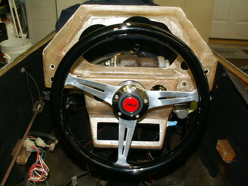 Dash and new steering wheel fitting