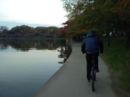Barnett on bike