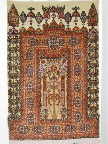 54 x 36 inch Silk Egyptian Prayer Rug