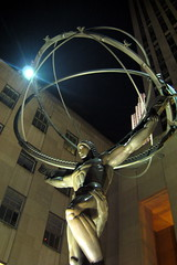 NYC - Rockefeller Plaza - Atlas (wallyg) Tags: plaza nyc newyorkcity sculpture ny newyork statue night nhl manhattan rockefellercenter landmark midtown atlas artdeco gothamist rockefeller mythology greekmythology rockefellerplaza leelawrie renechambellan nationalhistoriclandmark nationalregisterofhistoricplaces usnationalhistoriclandmark nrhp aia150 usnationalregisterofhistoricplaces newyorkcitylandmarkspreservationcommission nyclpc renepaulchambellan