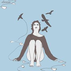 Dream (Xelya) Tags: blue birds azul illustration dream pjaros sueo ilustracin duotono soar xelyah xelya