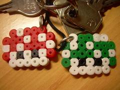 llavero setas Mario en Hama beads (Garumiru) Tags: mario llaveros hamabeads