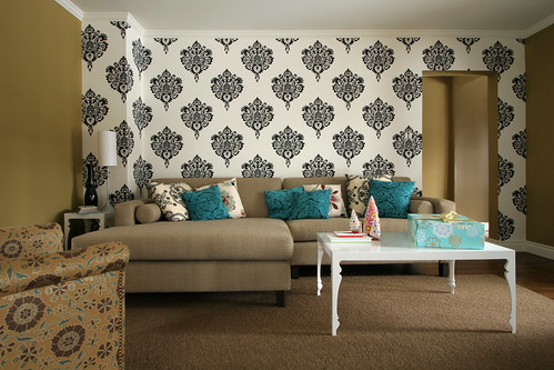 wallpaper interior design. modern wallpaper living room