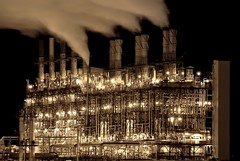 High Output (A guy with A camera) Tags: plant canada industry night lights nikon energy industrial natural engineering steam gas pollution alberta processing environment furnace emissions 70300mm refinery liquid vr chemical stacks crude polyethylene refineries gases upgrader petrochemical fortsaskatchewan ethylene dowchemical piped d80 theperfectphotographer ethane