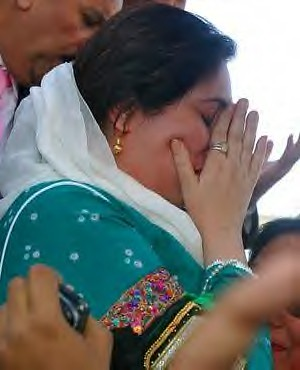 Benazir Bhutto shedding tears after arriving in Pakistan in October. She was assassinated on December 27, 2007. Her presence in Pakistan was seen by many as representing US political aims in the region. by Pan-African News Wire File Photos