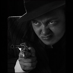 'm' (Misteriddles) Tags: drag gangster gun kill shoot m crime murder pulp homage mobster stagedportraiture disgust filmnoir dragking fritzlang peterlorre performanceartist evelynhartogh daskabinett