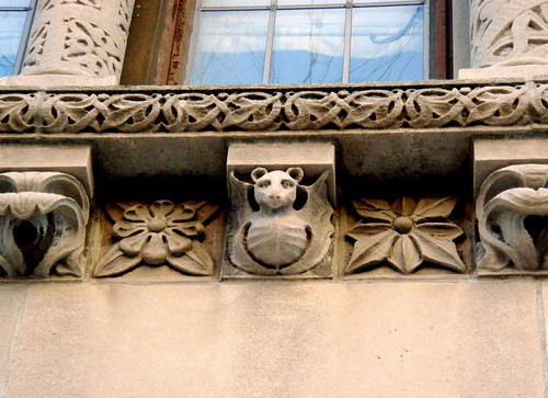 Stone carvings in Brooklyn Heights