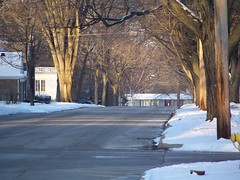 Looking down the street. (RIPizzo) Tags: street morning winter light shadow usa sun sunlight house snow tree ice home sunshine mi concrete photography drive am day bright rebecca time snowy michigan sub over sunny pole neighborhood hood daytime iced reach icy canopy neighbor pizzo mtclemens treelinedstreet mountclemens  minggu theclem mountclemensmi mtclemensmi ripizzo dielldiedritdielli   diumengeassolellatsol   sunananedjeljasunca slunnnedleslunko solrigesndagsolskin zonnigezondagzonneschijn pikesepaistelinephapevpikest maarawlinggongaraw aurinkoinenauringonpaiste dimancheensoleilldusoleil ensolaradodomingosol sonnigensonntagsonnenschein   napfnyesvasrnapnapfny soleggiatadomenicadisole   saulainasvtdienasaules saultasekmadienissauls xemxijaadxemx solriksndagsolskinn wwwrebeccapizzocom wwwrebeccapizzophotocom