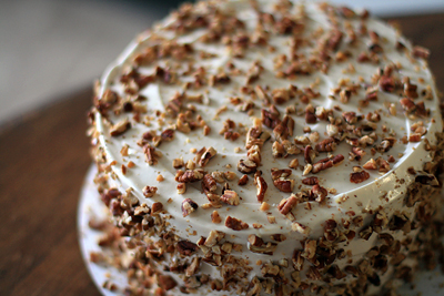 Spice Cake w/ Maple Frosting