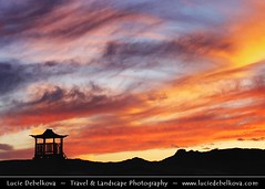 Mongolia - Silhuette of Ongiin Khiid monastery during Colorful Sunset ( Lucie Debelkova / www.luciedebelkova.com) Tags: trip travel sunset red vacation sky panorama orange cloud sun tourism nature beautiful clouds sunrise wonderful landscape outdoors temple dawn fantastic zonsondergang asia mood nuvola view purple dusk buddhist awesome natureza scenic natuur himmel wolke atmosphere buddhism paisaje paisagem mongolia prdosol ciel cielo temples stunning vista outlook nuage nuages nuvem overlook paysage exploration incredible landschaft fareast breathtaking nube paesaggio coucherdesoleil beautifulscenery buddhists solnedgng puestadelsol wonderoftheworld coucherdusoleil edgeoftheworld ancientworld wildnerness magiclight dramaticlight abigfave ongiinkhiidmonastery luciedebelkova wwwluciedebelkovacom