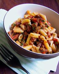 Sardinian pasta w pork & tomato sauce