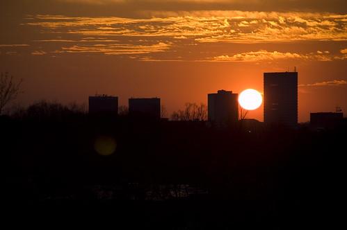 Sunset over Greenville