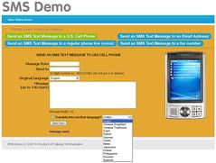 Multilingual SMS Demo