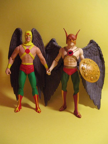 Earth One and Earth Two Hawkman