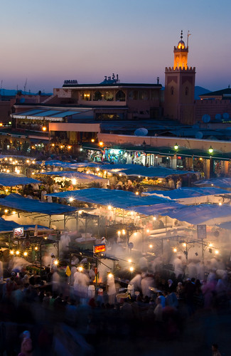 Djemaa El Fna at sunset