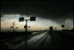 Driving - Heavy Rain (Sartori Simone) Tags: italien italy storm rain hail clouds geotagged europa europe italia nuvole driving wind pioggia italie vento 309 temporale veneto guidando grandine allrightsreserved simonesartori theperfectphotographer fotopoetiphotopoetry stradastataleromea