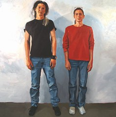 lori and ninia (paul heaston) Tags: portrait art painting artwork panel blogger lori thesis figure oil portfolio 2008 ninia