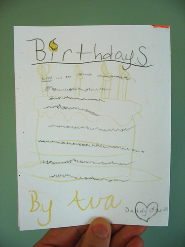 Ava Thursday: Pap Paw's Birthday Card