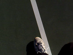 Walking the Line on a Tennis Court