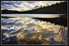Herbert Lake (Sean Phillips) Tags: park winter lake canada mountains reflection calgary water landscape rockies mirror nationalpark spring photographer smooth national alberta banff rockymountains federal banffnationalpark icefieldsparkway herbertlake photobyseanphillips glassycalm