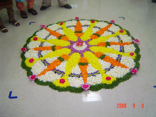 Calsoft Onam  Pookalam 2008 - 2nd Prize Winner 2 by arulmurugan77.