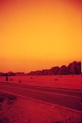 Orange Country (FrancescoDeRosa.net) Tags: moon landscape iso200 luna piemonte 135 comet paesaggi flim nk balle pellicola rotoballe bencini redscale bencinicomet piedimont bencinicometnk135