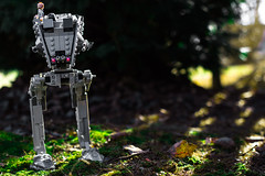 AT-ST Surveying the Woods (EternalSlothman) Tags: green storm trooper star wars war lego outdoors clone troopers first order blasters afol minifigs minifigures bricks blocks canon toy toys force legos t3i republic