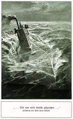 U-Boot 1917 veröffentlicht (zimmermann8821) Tags: 1weltkrieg deutscheskaiserreich deutschesreich druck grafik illustration meer technik verlagvelhagenklasing zeichnung schiff uboot ozean nordsee weltmeer kriegzursee seekrieg kriegsmarine kaiserlichekriegsmarine kriegspropaganda england blockadering propaganda